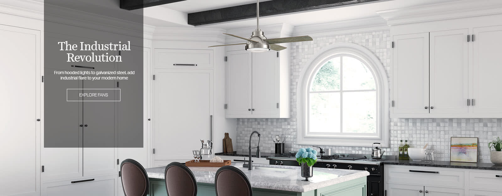 The Industrial Revolution | From hooded light to galvanized steel,  add industrial flare to your modern home | Explore Fans