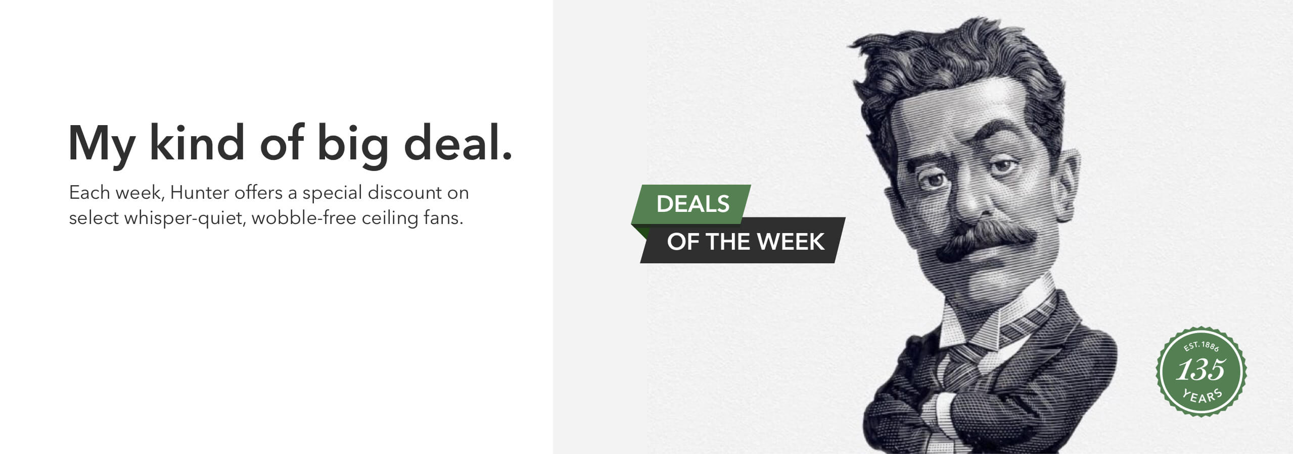 Deal of the week banner with illustration of John Hunter