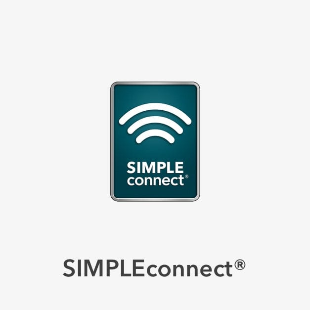 SIMPLEconnect symbol to indicate wifi