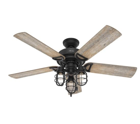 52inch Starlake ceiling fan in natural iron finish