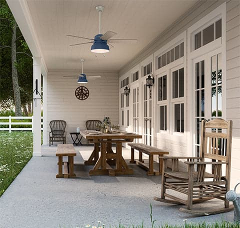 Damp Rated Vs Wet Ceiling Fans, What Is The Best Outdoor Ceiling Fan For Salt Air