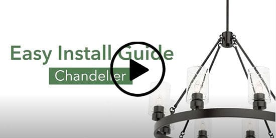 How to install a round chandelier video