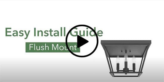 How to install a flush mount light video