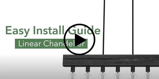 How to install a linear chandelier video