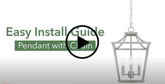 How to install a pendant light with a chain video