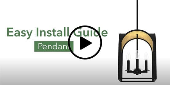 How to install a pendant light with a downrod video