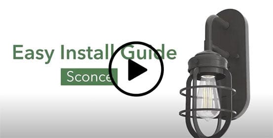 How to install a wall sconce video