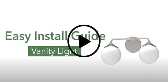 How to install vanity lights video